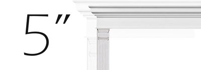 "5"" Fluted Pilasters - 05-fluted-pilasters"