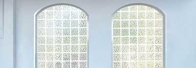 Arch Top Windows - acrylic-block-arch-top-windows