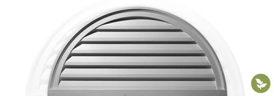 Half Round Gable Vents - ekena-half-round-gable-vents