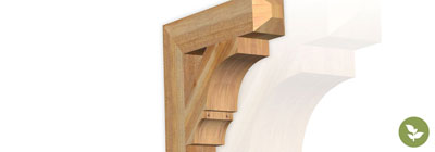 Roughsawn Brackets - ekena-roughsawn-brackets