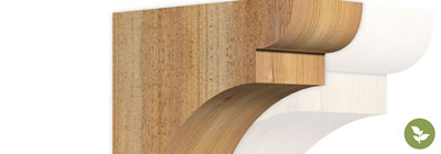 Roughsawn Corbels