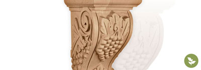 Grape - ekena-wood-grape-corbels
