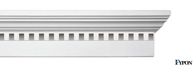 "Fypon 6"" Crossheads w/Dentil Trim - fypon-06-crossheads-dentil-trim"