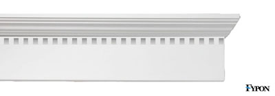 "Fypon 9"" Narrow Crossheads w/ Dentil Trim - fypon-09-narrow-crossheads-dentil-trim"