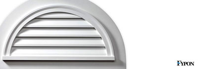 Fypon Half Round Gable Vents - fypon-half-round-gable-vents