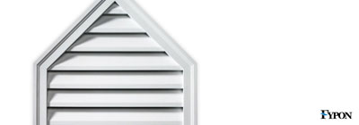 Fypon peaked gable vents fypon vents for Fypon gable decorations