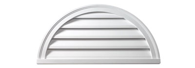 Functional - gable-vent-half-round-functional