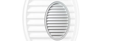 Functional - gable-vent-oval-functional