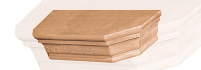 Wood Head Blocks - mantel-head-blocks