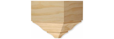Corner Blocks - woodgrain-corner-block-moulding