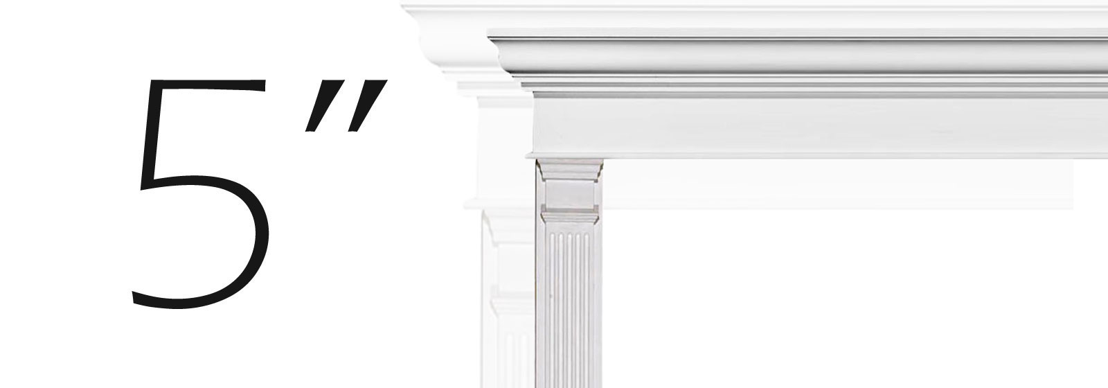 "5"" Fluted Pilasters"