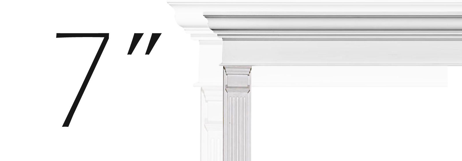Medium Fypon Fluted Pilasters - Fypon Millwork