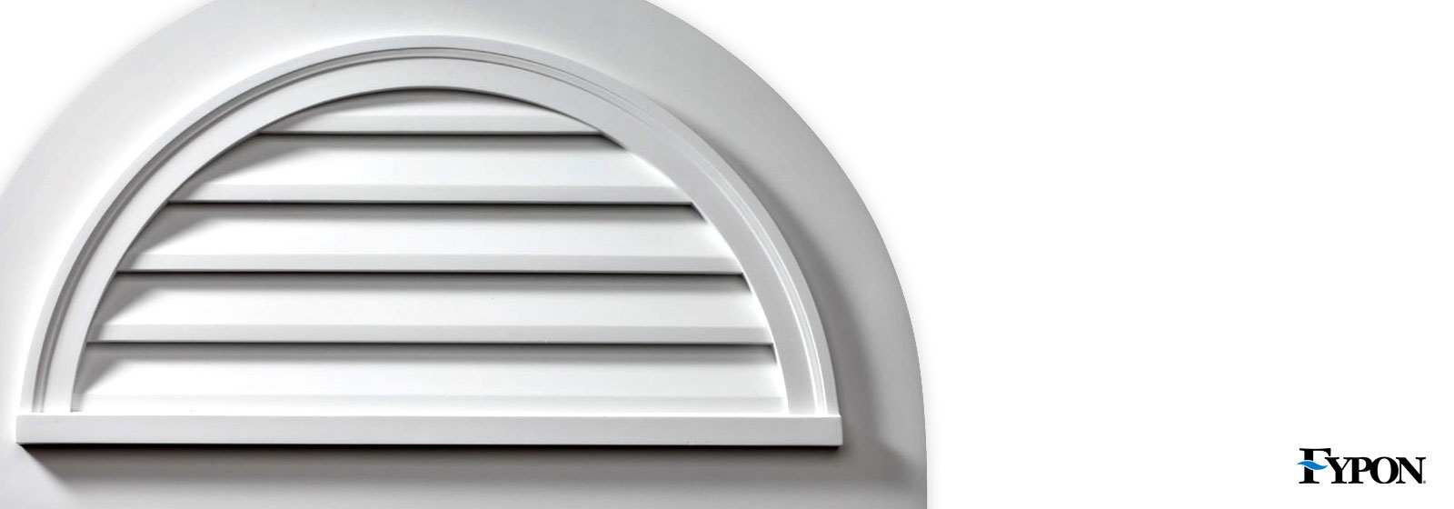 Fypon half round gable vents fypon vents shop diy for Fypon gable vents