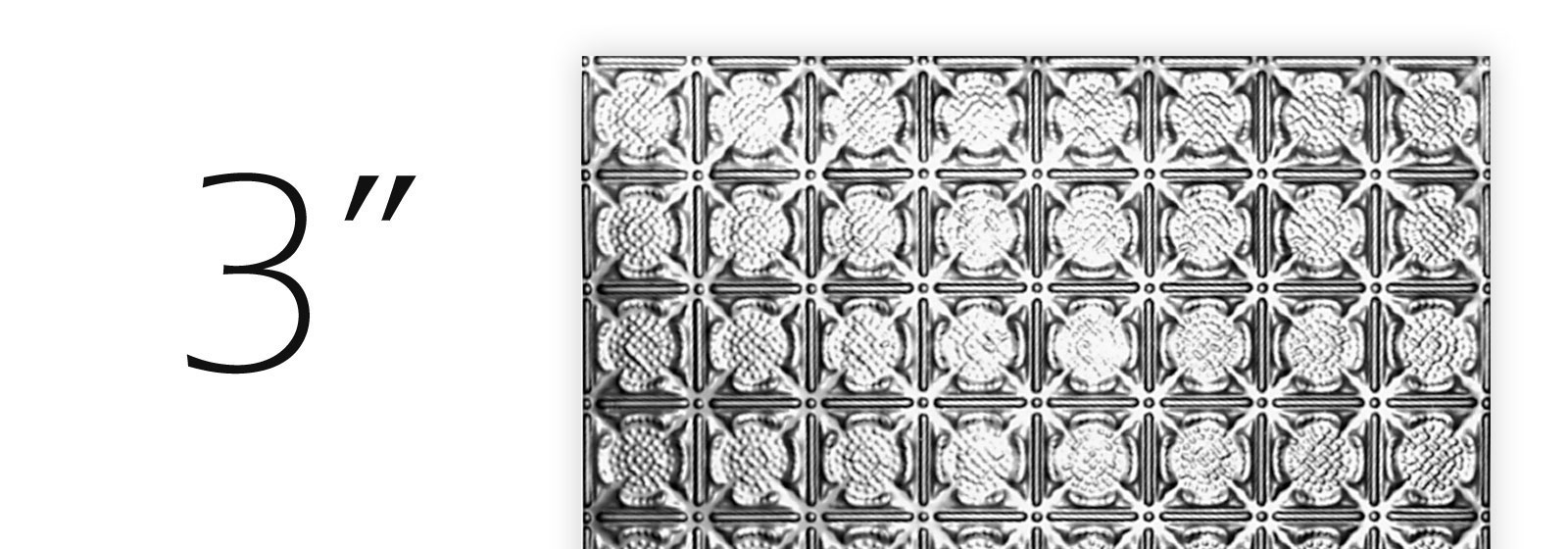 Tin ceiling tiles 3 inch pattern shop diy shop all 03 pattern now dailygadgetfo Gallery