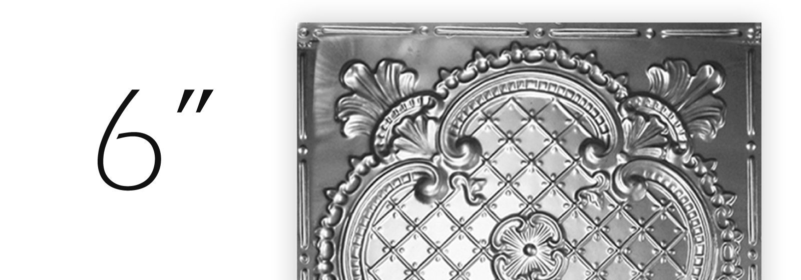 Tin ceiling tiles 6 inch pattern shop diy shop all 06 pattern now dailygadgetfo Gallery