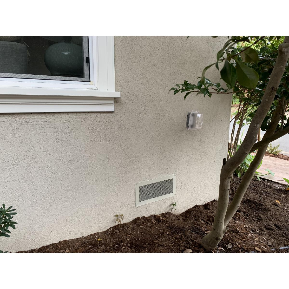 8-Inch H x 14-Inch W (62 Sq  In  Venting Area) Vulcan Fire Stopping  Foundation/Soffit Vent 3/4-Inch Recessed Flange for Stucco, Galvanized Steel