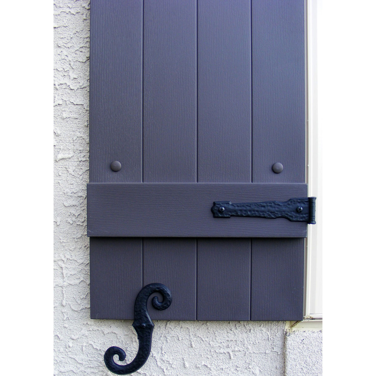 Decorative Vinyl Hinges 4 Hinges 2 S Hooks 002 Black