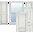 True Fit PVC, Two Equal Raised Panel Shutters, Unfinished (Per Pair)