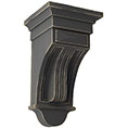 Raised Fluting Wood Vintage Decor Corbel