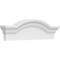 Segmented Arch w/Flankers Plain Pediment