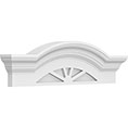 Segmented Arch w/Flankers 4 Spoked Pediment