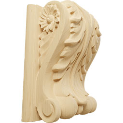 Acanthus Block w/ Backplate Wood Corbel