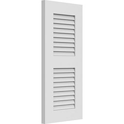 True Fit PVC, Two Equal Louver Shutters, Unfinished (Per Pair)