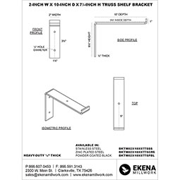 Steel Truss Shelf Bracket