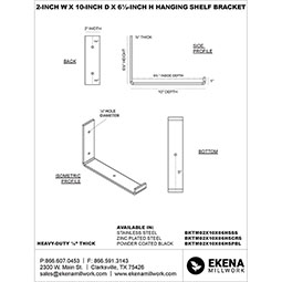 Steel Hanging Shelf Bracket