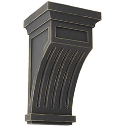 Fluted Wood Vintage Decor Corbel