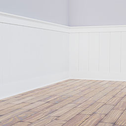 Deluxe Shiplap with a Nickel Gap 8' Length PVC Wainscoting Kit