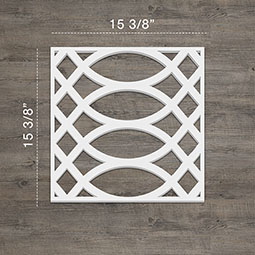 Montrose Decorative Fretwork Wall Panels in Architectural Grade PVC