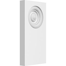 Standard Foster Bullseye Plinth Block with Square Edge