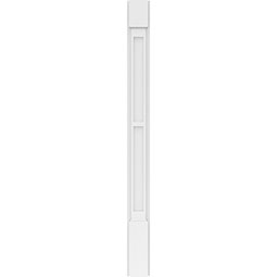 Two Equal Flat Panel PVC Pilaster w/Standard Capital & Base (Pair)
