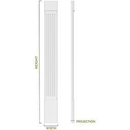 Two Equal Raised Panel PVC Pilaster w/Standard Capital & Base (Pair)