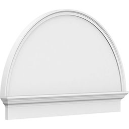 Half Round Smooth Architectural Grade PVC Combination Pediment