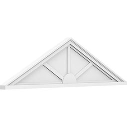 Peaked Cap 3 Spoke Architectural Grade PVC Pediment