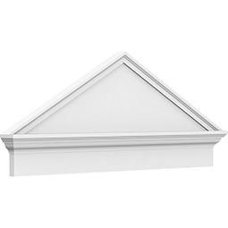 Peaked Cap Smooth Architectural Grade PVC Combination Pediment