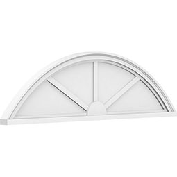 Segment Arch 3 Spoke Architectural Grade PVC Pediment