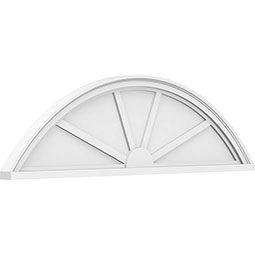 Segment Arch 4 Spoke Architectural Grade PVC Pediment