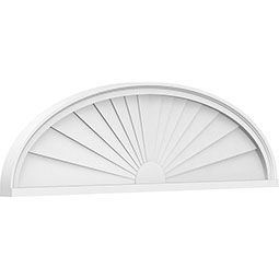Elliptical Sunburst Architectural Grade PVC Pediment