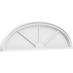 Elliptical 3 Spoke Architectural Grade PVC Pediment
