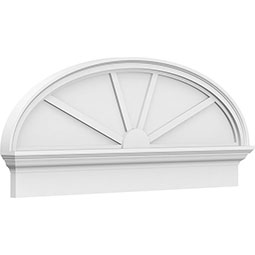 Elliptical 4 Spoke Architectural Grade PVC Combination Pediment