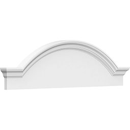 Segment Arch W/ Flankers Smooth Architectural Grade PVC Pediment