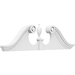 Rams Head Architectural Grade PVC Pediment (Urn Ships Unattached in Box)