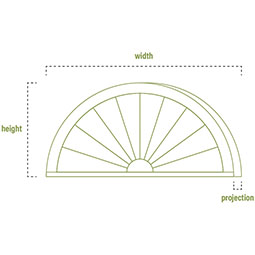 Arched Architectural Grade PVC Pediment
