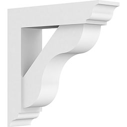 Standard Carmel Architectural Grade PVC Bracket With Traditional Ends
