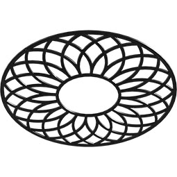 Cannes Metal Pierced Ceiling Medallion