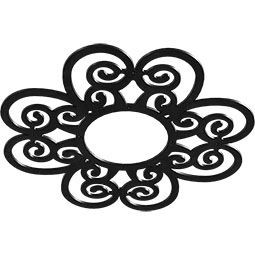 Cohen Metal Pierced Ceiling Medallion