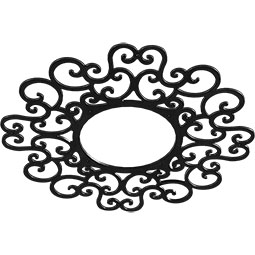 Reims Metal Pierced Ceiling Medallion